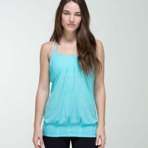 Lululemon Flow and go tank top blue size 4